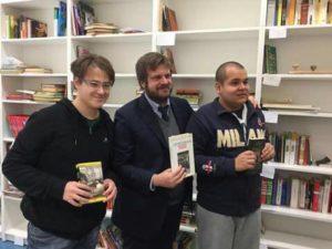 Eugenio e Daniel con l'Ass. Majorino