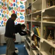 Al lavoro presso il Polo Centrale di BookBox in Villa Finzi